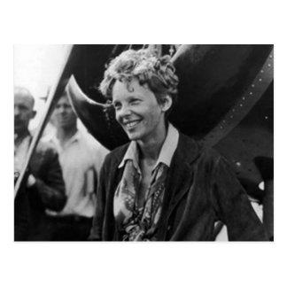 Cartão Postal Retrato da foto de Amelia Earhart do vintage