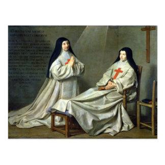 Cartão Postal Retrato da mãe Catherine-Agnes