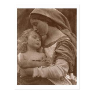 Cartão Postal Retrato da mãe e da criança (foto do sepia)
