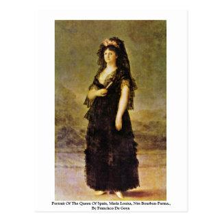 Cartão Postal Retrato da rainha da espanha, Maria Louisa