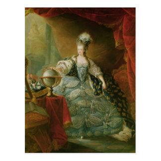 Cartão Postal Retrato da rainha de Marie Antoinette de France