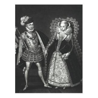 Cartão Postal Retrato da rainha de Mary de escocês