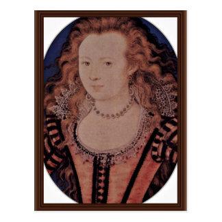 Cartão Postal Retrato da rainha Elizabeth do Oval de Boémia