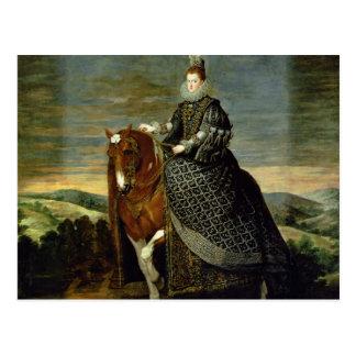 Cartão Postal Retrato da rainha Margaret de Áustria 1629-35