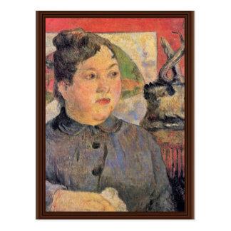 Cartão Postal Retrato da senhora Alexandre Kohler por Gauguin
