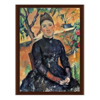 Cartão Postal Retrato da senhora Cezanne Estufa