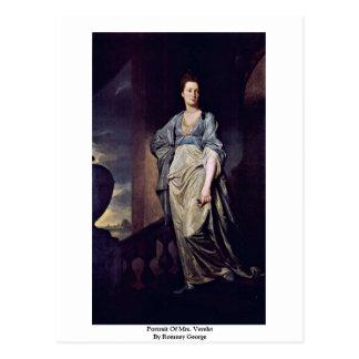 Cartão Postal Retrato da Sra. Verelst Romney George