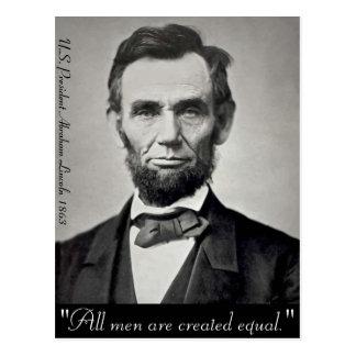 Cartão Postal Retrato de Abraham Lincoln Gettysburg