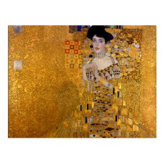Cartão Postal Retrato de Adele Bloch-Bauer por Gustavo Klimt