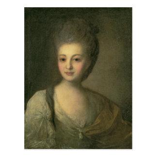 Cartão Postal Retrato de Aleksandra P. Struyskaya 1772