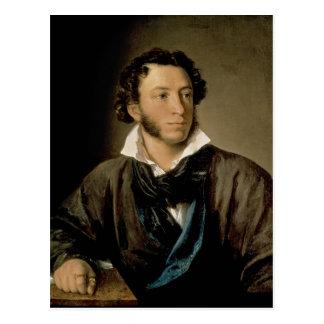 Cartão Postal Retrato de Alexander Pushkin