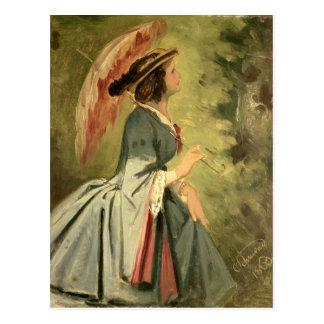 Cartão Postal Retrato de Anna, filha do artista, 1860