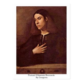 Cartão Postal Retrato de Antonio Broccardo por Giorgione
