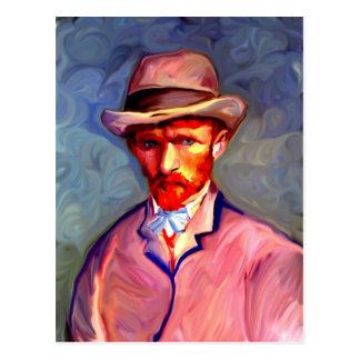 Cartão Postal Retrato de auto 1887 de Vincent