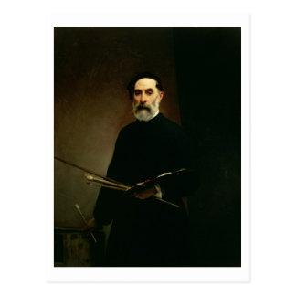 Cartão Postal Retrato de auto, c.1860-62 (óleo em canvas)