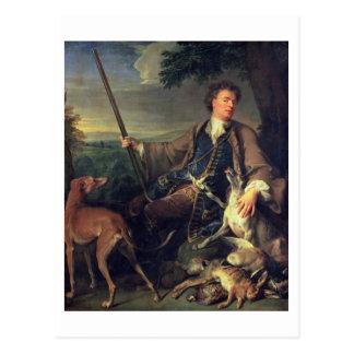 Cartão Postal Retrato de auto como um caçador, 1699 (óleo em