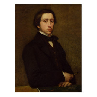 Cartão Postal Retrato de auto de Edgar Degas  , 1855