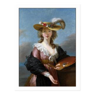 Cartão Postal Retrato de auto de Elisabeth Vigee Lebrun