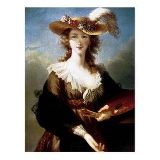 Cartão Postal Retrato de auto de Elisabeth Vigee-Lebrun