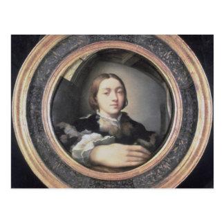 Cartão Postal Retrato de auto no espelho