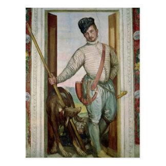 Cartão Postal Retrato de auto no traje da caça, 1562