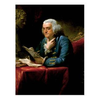 Cartão Postal Retrato de Benjamin Franklin