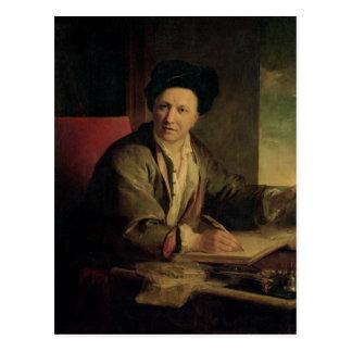 Cartão Postal Retrato de Bernard le Bovier de Fontenelle