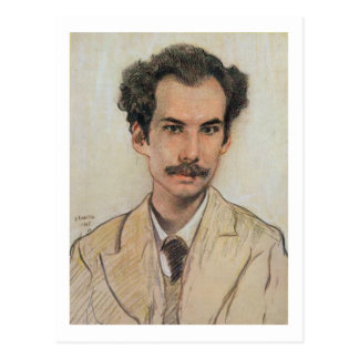 Cartão Postal Retrato de Boris Nikolayevich Bugaev (1880-1934)