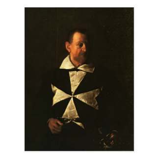 Cartão Postal Retrato de Caravaggio- de Fra Antionio Martelli