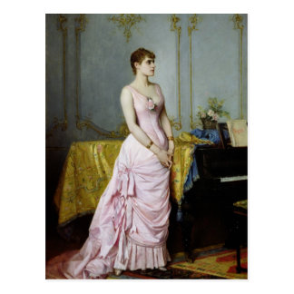 Cartão Postal Retrato de Caron cor-de-rosa 1886