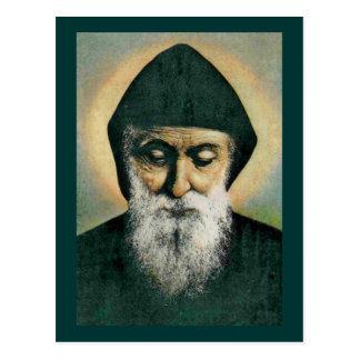Cartão Postal Retrato de Charbel do santo