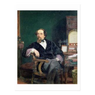 Cartão Postal Retrato de Charles Dickens (óleo em canvas)