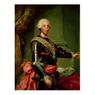 Cartão Postal Retrato de Charles III c.1761