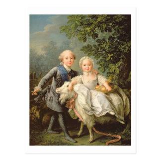 Cartão Postal Retrato de Charles Philippe de France (1757-1836)