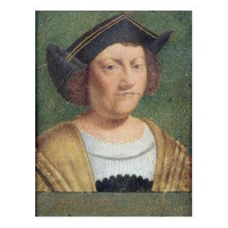 Cartão Postal Retrato de Cristóvão Colombo