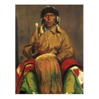 Cartão Postal Retrato de Dieguito Roybal por Robert Henri