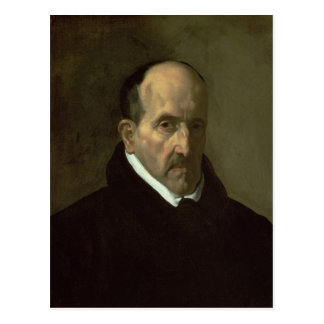 Cartão Postal Retrato de Don Luis de Gongora y Argote 1622