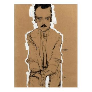 Cartão Postal Retrato de Egon Schiele- de Eduard Kosmack