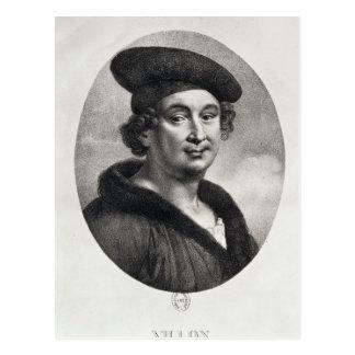 Cartão Postal Retrato de Francois Villon