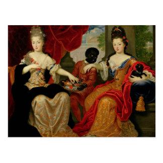 Cartão Postal Retrato de Francoise-Marie de Bourbon