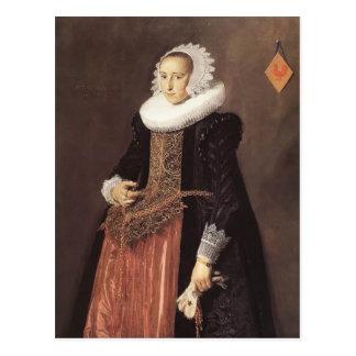Cartão Postal Retrato de Frans Hals- de Aletta Hanemans