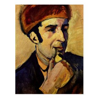 Cartão Postal Retrato de Franz Marc daqui até agosto Macke