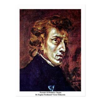 Cartão Postal Retrato de Frédéric Chopin