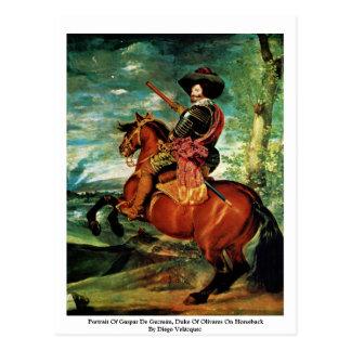 Cartão Postal Retrato de Gaspar De Guzmán, duque Olivares