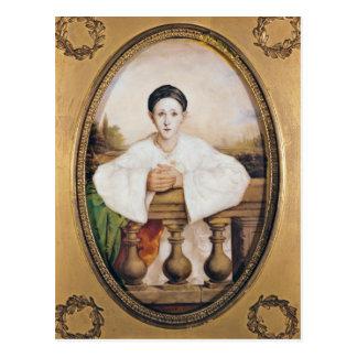Cartão Postal Retrato de Gaspard Deburau como Pierrot, c.1815