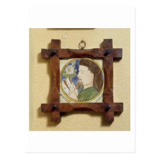 Cartão Postal Retrato de Geoffrey Chaucer (c.1340-1400) (cerami