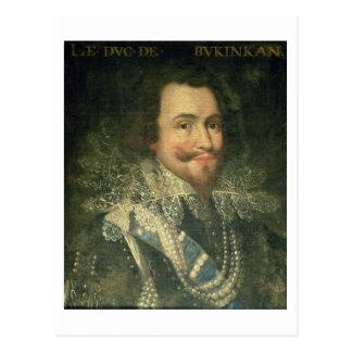Cartão Postal Retrato de George Villiers, ø duque de Buckingha