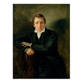 Cartão Postal Retrato de Heinrich Heine 1831
