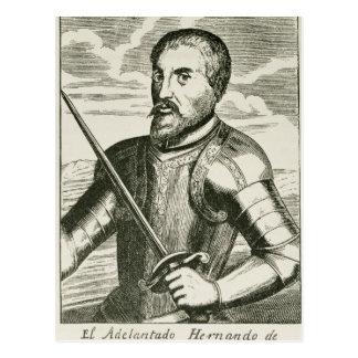 Cartão Postal Retrato de Hernando de Soto