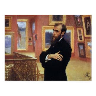 Cartão Postal Retrato de Ilya Repin- de Pavel Tretyakov